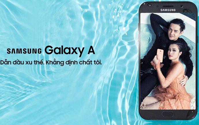 Samsung galaxy a7 2017 - thiết kế nguyên khối chống nước chống bụi IP 68, wifi chuẩn AC, camera trước sau lên đến 16MP