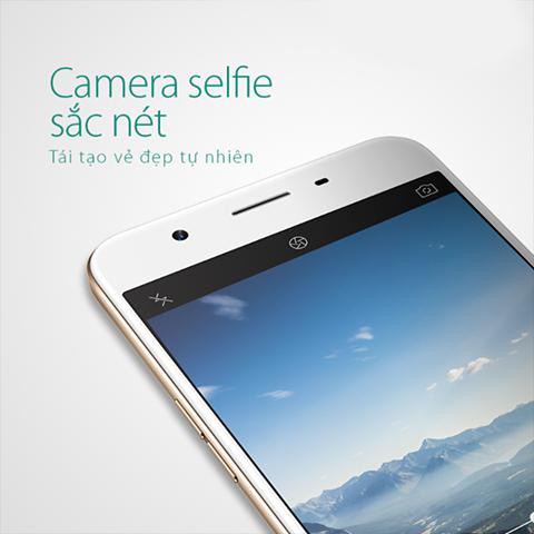 Oppo F1s chụp ảnh selfi cực chất