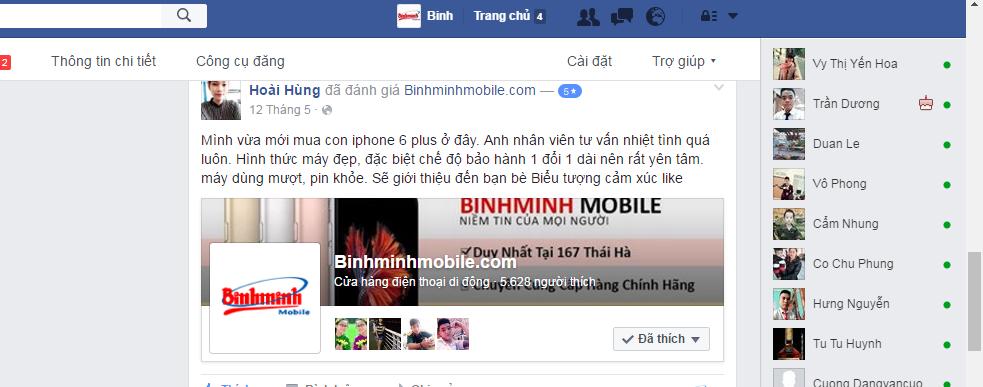 Mua iphone tại Bình Minh Mobile đảm bảo uy tín