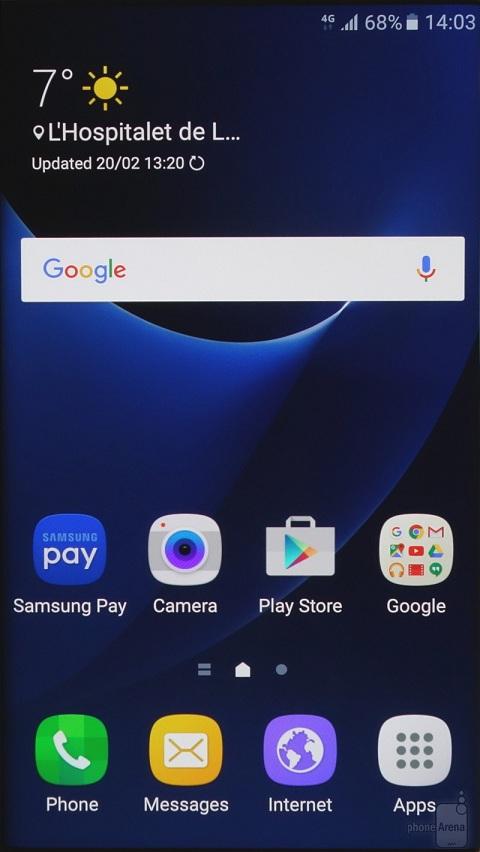 Sự khác biệt về giao diện của Samsung Galaxy S7 và S7 Edge