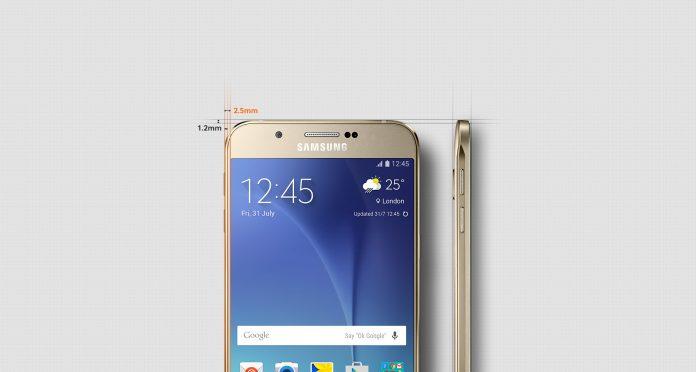 Kích thước của 2 máy Samsung Galaxy A9 pro và A8