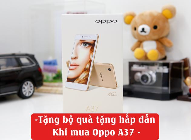 Oppo A37 có kiểu dáng sang trọng, bắt mắt.