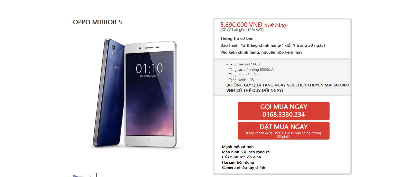 Smartphone Hng P Oppo Mirror 5 C Gi Bn Chnh Thc Ti 16gb Th M Ng Nhiu Tc V Cng Lc Nh Ci T Dng Hn Khng B Ch Dung Lng