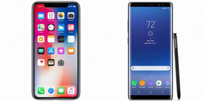 so sánh iphone x và note 8