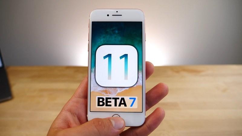 ban cap nhat ios 11 beta 7