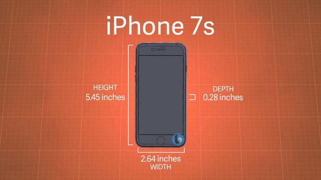 kích thước iphone 7s