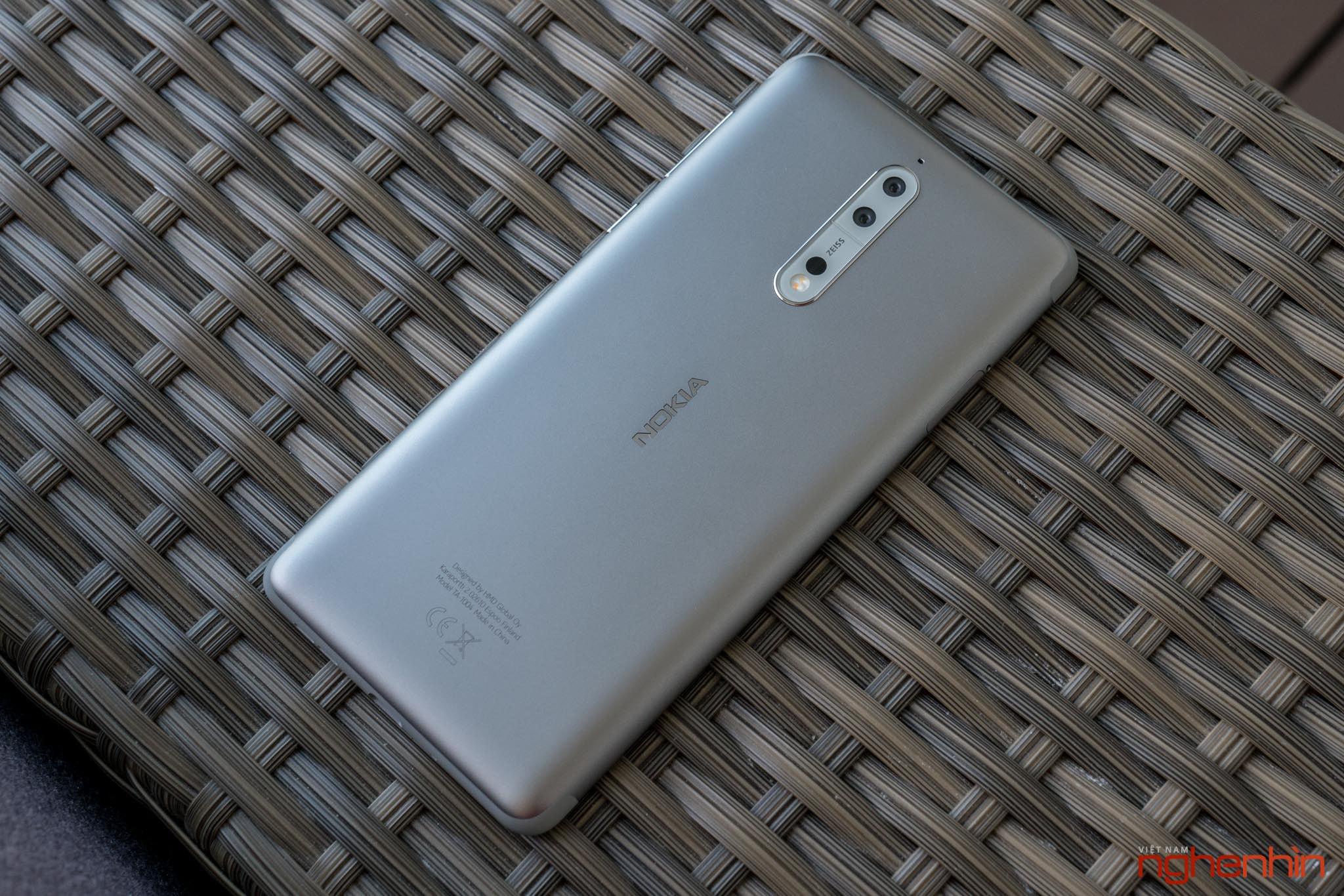 Mở hộp Nokia 8 chính hãng: hoàn thiện cao cấp, camera kép ống kính Zeiss ảnh 3