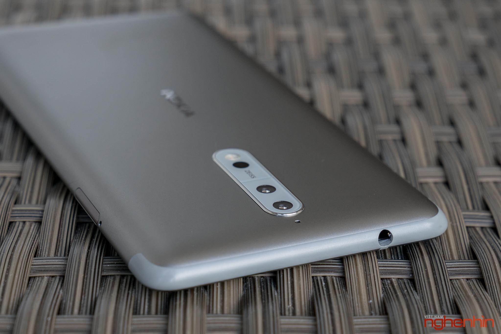 Mở hộp Nokia 8 chính hãng: hoàn thiện cao cấp, camera kép ống kính Zeiss ảnh 4