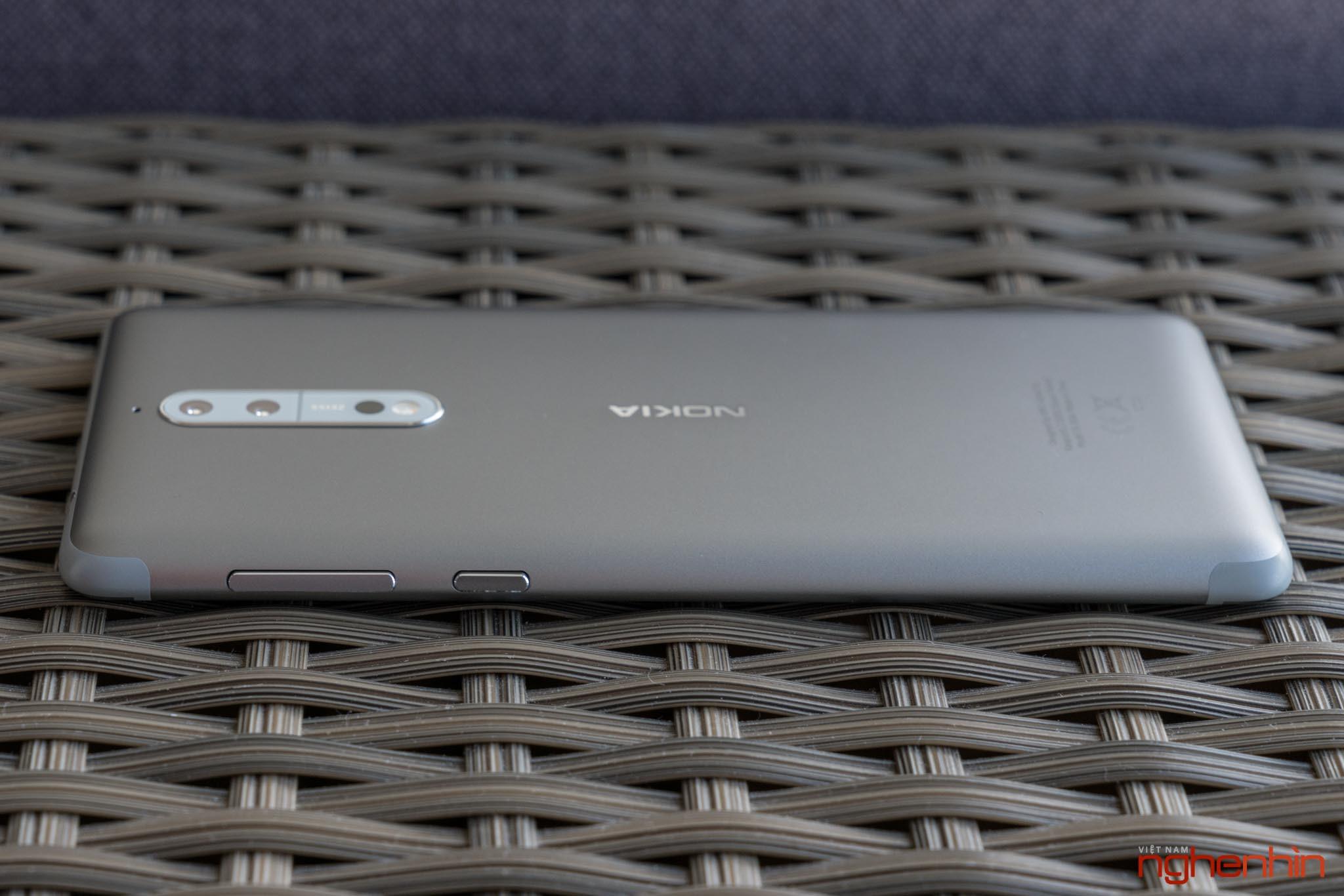 Mở hộp Nokia 8 chính hãng: hoàn thiện cao cấp, camera kép ống kính Zeiss ảnh 6