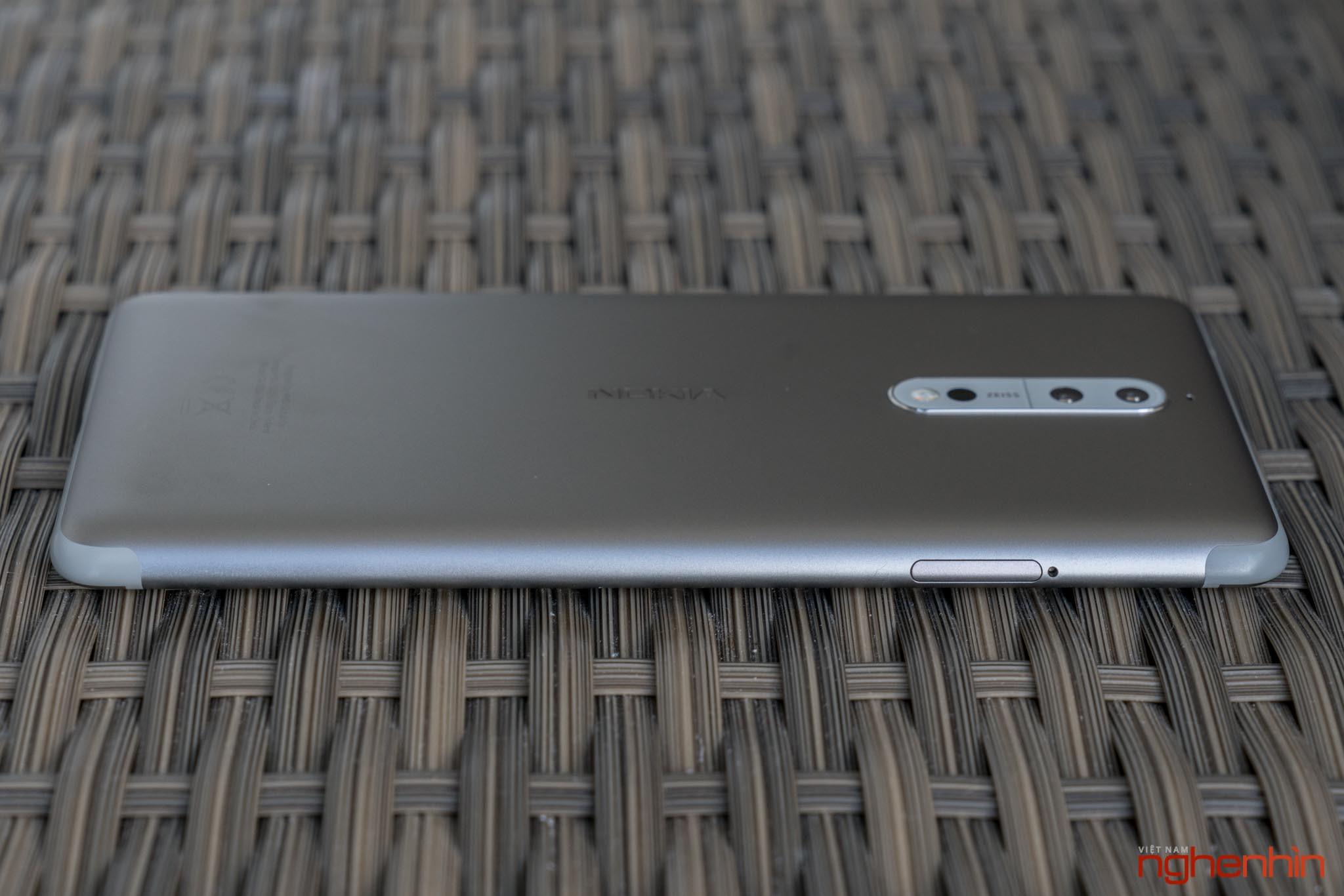 Mở hộp Nokia 8 chính hãng: hoàn thiện cao cấp, camera kép ống kính Zeiss ảnh 7