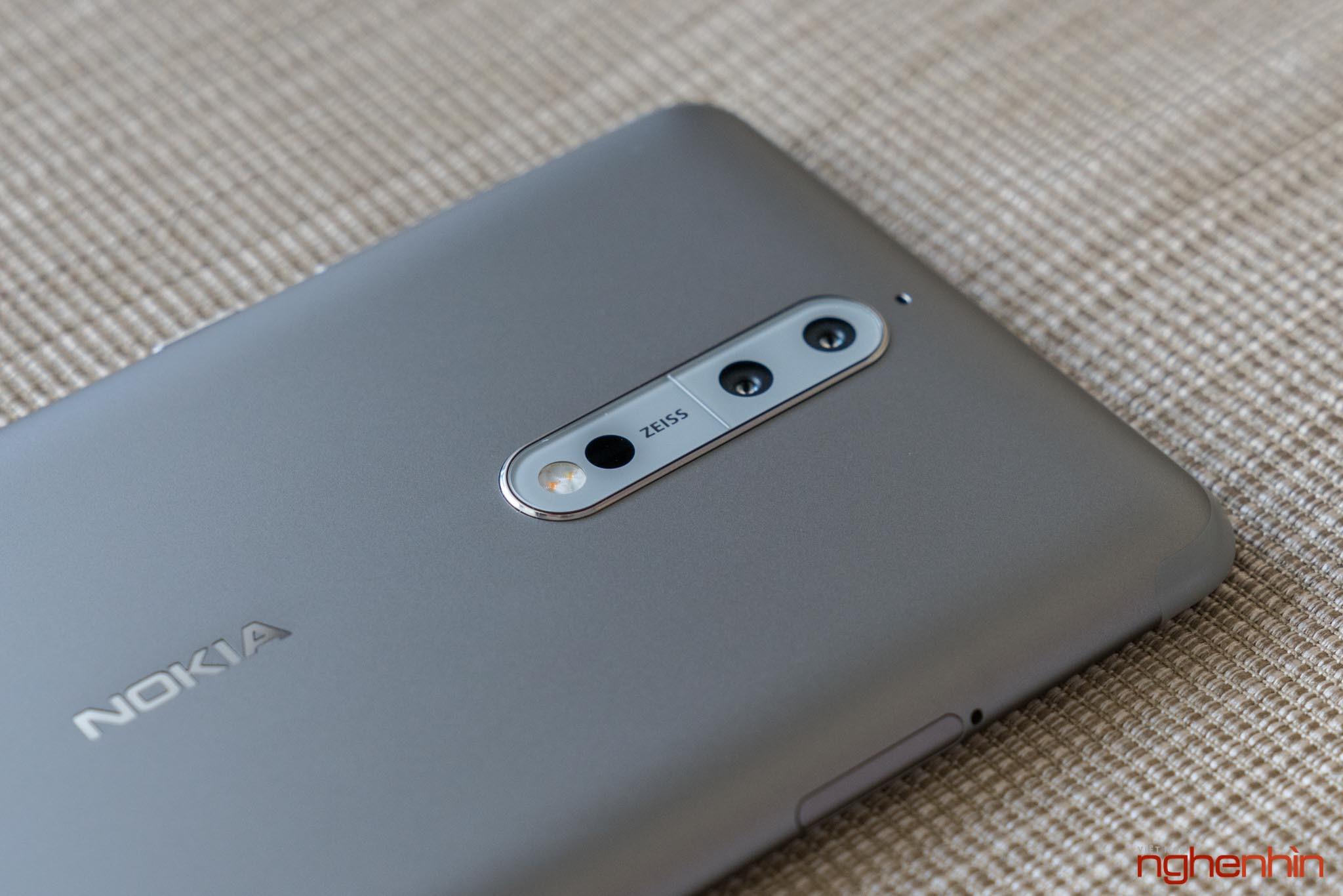 Mở hộp Nokia 8 chính hãng: hoàn thiện cao cấp, camera kép ống kính Zeiss ảnh 10