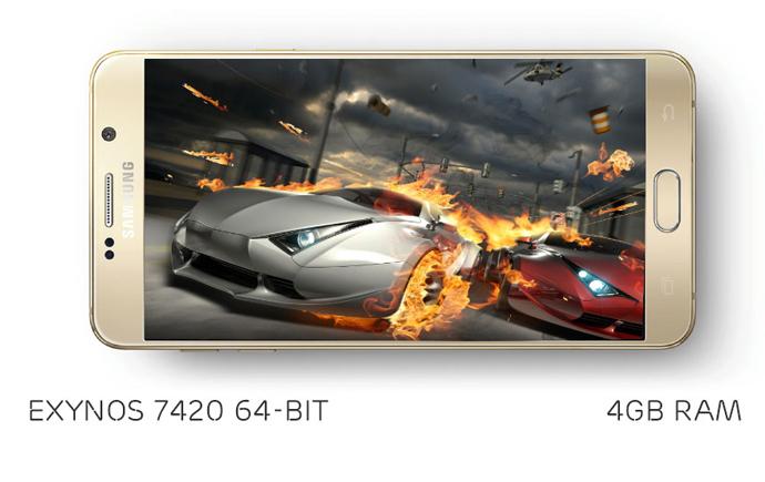 Bên trong Galaxy Note 5 là bộ vi xử lý Exynos 7420 64 bit với RAM 4GB đem lại hiệu năng cực mạnh