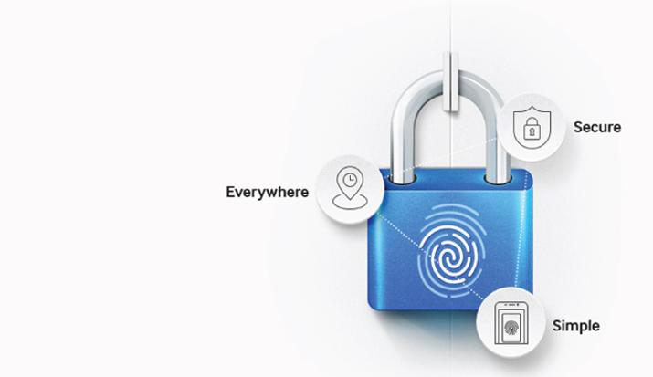 Yên tâm hơn với bảo mật vân tay. Không chỉ bảo vệ dữ liệu trong máy an toàn hơn, cảm biến vân tay còn tiện lợi hơn khi thực hiện thanh toán trực tuyến qua Samsung Pay và các dịch vụ mà Samsung phát triển trong tương lai