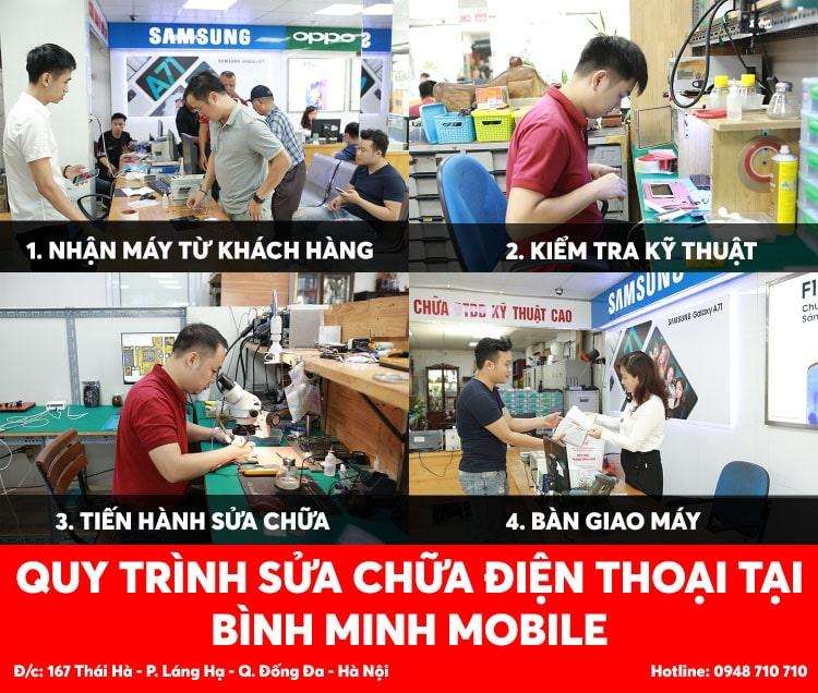 Quy trình sửa chữa điện thoại tại Bình Minh mobile