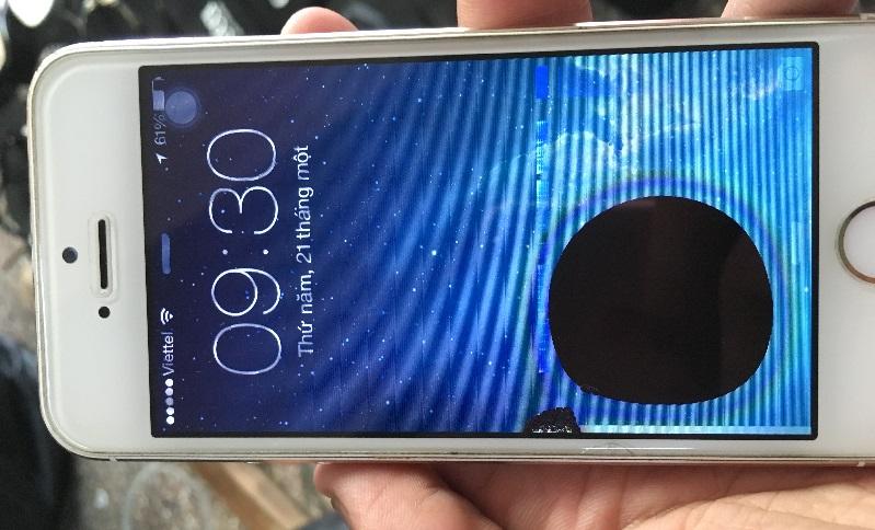 Màn hình điện thoại ố đen