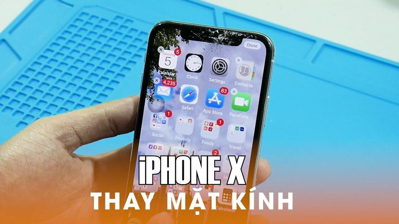 Thay mặt kính iPhone X/XS/XS Max