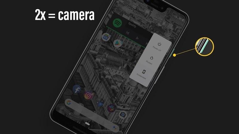 Mở máy ảnh nhanh Android