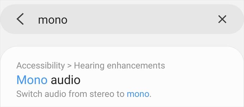 Chuyển âm thanh sang một bên tai nghe Android