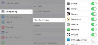 Ứng dụng tìm kiếm Spotlight